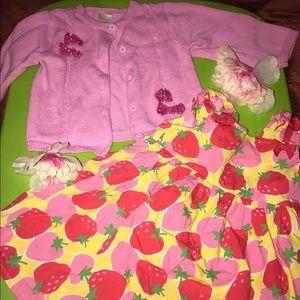 Gymboree Strawberry Dress 12-18 month